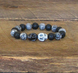 Stormy Night Skull Bracelet from SassyBelleWares, as gifted at GBK's 2015 MTV Movie Awards Weekend Gift Lounge.
