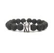 Black Lava Bracelet from SassyBelleWares