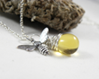 Sterling Silver Honey Bee Necklace from Luna Jewelry