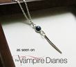Sterling Silver Sapphire Gemstone and Dagger Necklace from Luna Jewelry