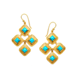 Julie Vos Jewelry Turquoise Earring set in 24K Gold Plate