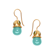 Julie Vos Jewelry Baroque Earring with Aqua Chalcedony and Peridot in 24K Gold Plate