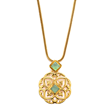 Julie Vos Jewelry Necklace with Aqua Chalcedony in 24K Gold Plate