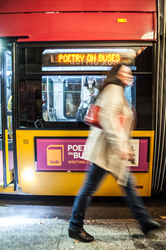 There are four Rapid Ride Metro buses dedicated to poetry that are in circulation for a year.