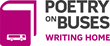 logo for the poetry on buses program