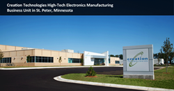 Creation's high-tech electronics manufacturing facility in St. Peter, MN offers commercialization and supply chain solutions for complex electronic products from sophisticated industrial controls to medical devices.