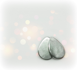Brushed Finish Sterling Silver Teardrop Earring from Little Hill Jewelry