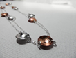 Long Silver and Copper Necklace from Little Hill Jewelry