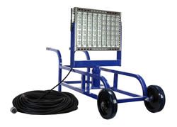 Portable LED Work Area Light Cart that produces 52,000 lumens of light