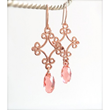 Rose Gold Crystal Dangle Earrings from LoveYourBling