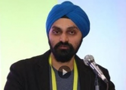 Manpreet Singh of TalkLocal speaking at CES 2015.