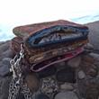 Eco-Silk and Felted Wool Wristlet Clutches from Rosy Toes Designs