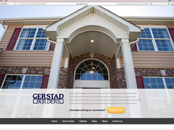 Home page of Gerstad Builders' new, interactive website.