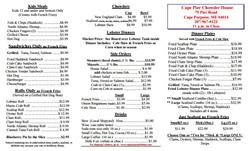 Cape Pier Chowder House Restaurant
