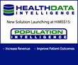 "Health Data Intelligence ""bends healthcare cost curves"" with its launch of Population Intelligence™ at HIMSS15"