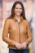 Linia Lambskin Leather Jacket