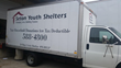 Donation pick up truck from Thrift Store USA, one of Seton Youth Shelters' major donors.