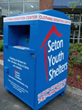 One of more than 130 Thrift Store USA donation bins around Hampton Roads. Proceeds from all sales at Thrift Store USA goes to support Seton Youth Shelters.