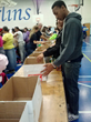 Seton Youth Shelters' Teen Volunteer Group, HYPE, volunteering at Food Bank in 2014.