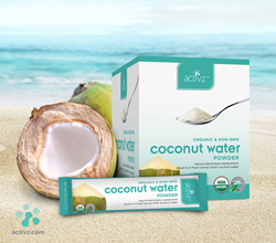 Montel Coconut Water Powder, activz, actives