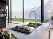Designed to complement other stainless fixtures and appliances in a modern kitchen, all Steel Series faucets are marked by a contemporary look.