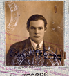 A passport photo of young Ernest Heming way used for his writing travels. The famous author advised travel as a way for writers to broaden their experiences.