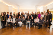 Stately Homes by-the-Sea Design Team joined by Show House co-chairs Kathy Cashes, Alice DiFiglia (standing first and second from right) and Kathleen Smith (standing fourth from right) gather in the Bl