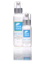 Block Island Organics Purifying Facial Cleanser and Revitalizing Night Cream