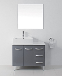 Ultra Modern 36″ Gray Bathroom Vanity Set UM-3069-S-GR from Virtu USA