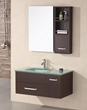 Christine Wall Mounted Sink With Storage Bathroom Mirror DEC1107 From Design Element