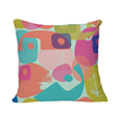 Pillow in a colorful, modern print