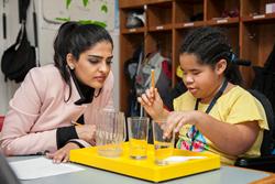 Princess Ameerah visits Perkins classroom