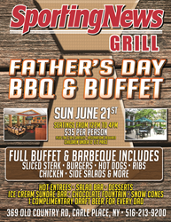 Father's Day BBQ and Buffet on Long Island Sunday, June 21, 2015