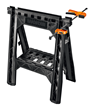 WORX Clamping Sawhorses accommodate horizontal or vertical clamping.