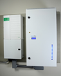 A JuiceBox Energy 8.kWh energy storage system is wall mounted.