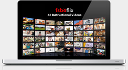 The FsboFlix.com Video Library featuring over 12 hours of For Sale By Owner training.