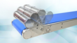 Flip Up Tail on QC Industries' HydroClean Sanitary Conveyors