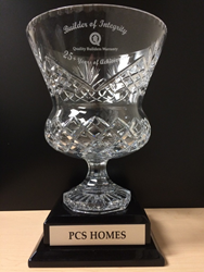 "PCS Homes ""Builder of Integrity"" Quality Builders Warranty Corporation"