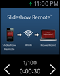 Slideshow Remote's main screen on Apple Watch