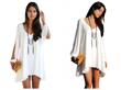 Chiffon Dress, Relaxed Dress, Mini Dress, Loose Fit Dress