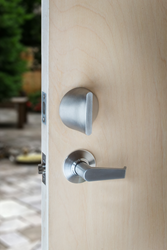 Photo shows the FRiday smart lock in stainless steel