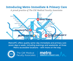 The GW Medical Faculty Associates Acquires Metro Immediate & Primary Care Clinics Offering Patients Same-Day, Evening, and Weekend Access to Care
