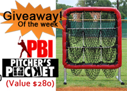 Giveaway prize from Pro Baseball Insider.com;  The Better Baseball Pitcher's Pocket 9 hole net (Value $280 with no cost for shipping); Celebrating launch of Best Baseball Nets - Testing and Reviews;  Winner of give away selected April 23, 2015