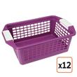 Flip-N-Stack Medium Purple Plastic Baskets, Set of 1, $27.99