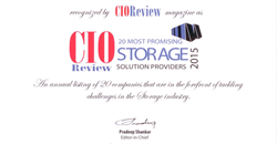CIO Review Selects storageFOUNDRY for the 20 Most Promising Storage Solution Providers 2015