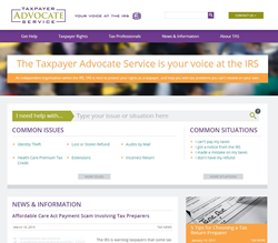 Taxpayer Advocate Service Redesigned Website Homepage