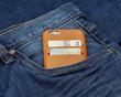 T8 Salt iPhone 6 wallet case with blue jeans