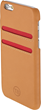T8 Salt iPhone 6 wallet case in tan leather and red trim