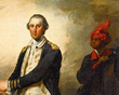 George Washington  and his Groom by John Trumbull (1780)