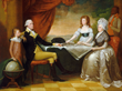 Portrait of George Washington's Family by Edward Savage (1796)